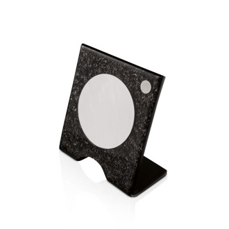 Makeup Mirror Free Standing Black and Silver Plexiglass Magnifying Mirror K 159 Toscanaluce K 159
