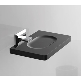 Soap Dish Square Plexiglass Soap Dish with Chrome Wall Mount G201 Toscanaluce G201