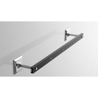 Towel Bar Plexiglass 14 Inch Towel Bar with Chrome Wall Mounts G207 Toscanaluce G207