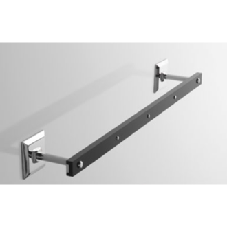 Towel Bar Plexiglass 18 Inch Towel Bar with Chrome Wall Mounts G208 Toscanaluce G208