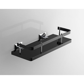 Bathroom Shelf Plexiglass 13 Inch Bathroom Shelf with Rail and Chrome Wall Mounts G211 Toscanaluce G211