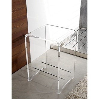 Bathroom Stool Plexiglass Square Bathroom Stool Toscanaluce K130
