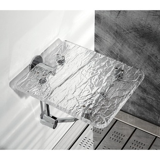 Bathroom Stool Wall Mounted Ice Effect Plexiglass Bathroom Folding Stool Toscanaluce K131