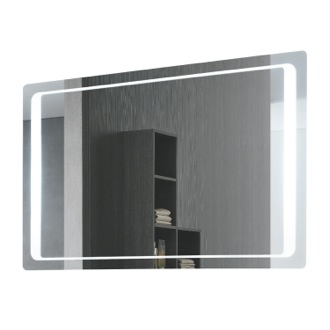 Vanity Mirror Rectangular Back-Lighted Mirror 7095-702S Vanita And Casa 7095-702S