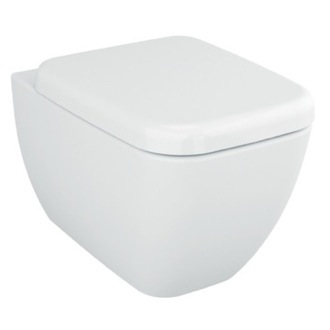 Toilet Stylish Square White Ceramic Wall Hung Bathroom Toilet with Seat Vitra 4392-003-0075