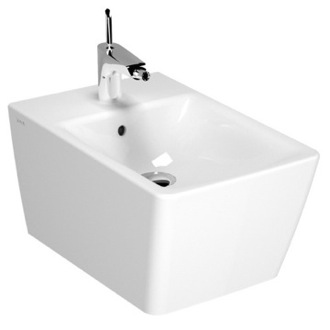 Bidet Stylish White Square Wall-Mounted Ceramic Bidet Vitra 4466-003-0288