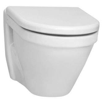 Stylish Round White Ceramic Wall Mounted Toilet with Seat Vitra 5318-003-0075