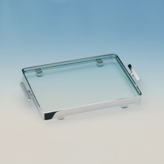 Bathroom Tray Rectangle Clear Crystal Glass Bathroom Tray 51419 Windisch 51419