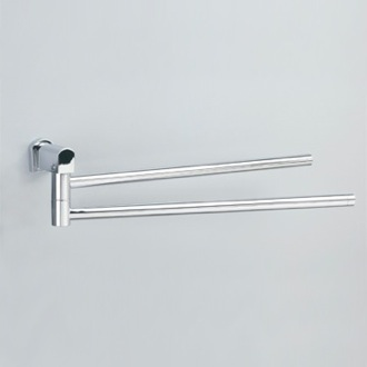 Swivel Towel Bar 18 Inch Chrome or Chrome and Gold Double Swivel Towel Bar 85141 Windisch 85141