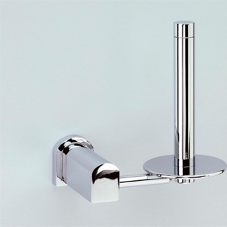 Toilet Paper Holder Chrome or Chrome and Gold Vertical Toilet Roll Holder 85152 Windisch 85152
