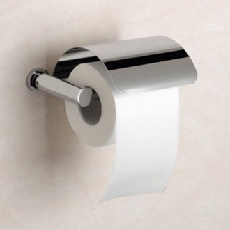 Brass Toilet Roll Holder with Cover Windisch 85451-SNI