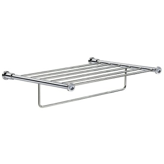 Train Rack Wall-Mounted Chrome Towel Rack With White Crystals Windisch 85515CRB