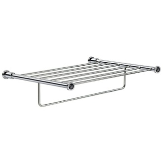 Chrome Brass Towel Rack With Black Crystals Windisch 85515CRN