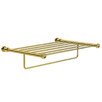Train Rack Gold Br With White Crystals Windisch 85515ob