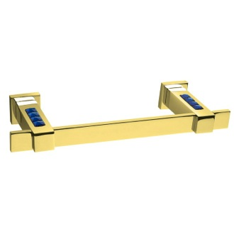 Towel Bar Gold Towel Bar With 15 Inch Width and Blue Crystals 85577OA Windisch 85577OA