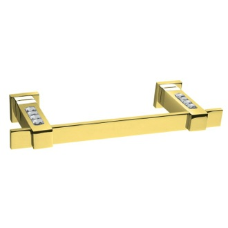 Towel Bar Gold Brass Wall-Mounted 15 Inch Towel Bar With White Crystals 85577OB Windisch 85577OB