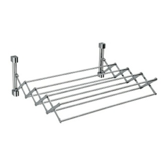 Towel Rail Wall Mounted Brass Extendable Towel Rail 85960 Windisch 85960