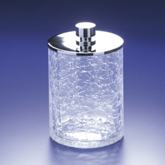 Bathroom Jar Crackled Crystal Glass Cotton Ball Jar Windisch 88126