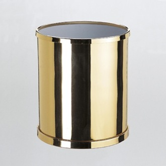 Waste Basket Round Bathroom Waste Bin in Brass 89102 Windisch 89102