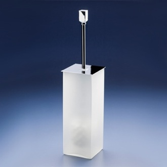 Toilet Brush Square Frosted Crystal Glass Toilet Brush Holder 89131M Windisch 89131M