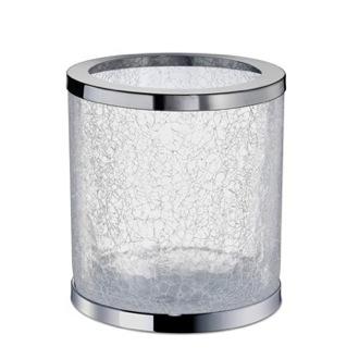 Waste Basket Round Crackled Glass Bathroom Waste Bin Windisch 89164