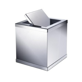 Waste Basket Brass Square Mini Waste Bin With Swivel Lid 89181 Windisch 89181