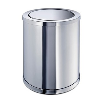 Waste Basket Brass Round Waste Bin With Swivel Lid 89183 Windisch 89183