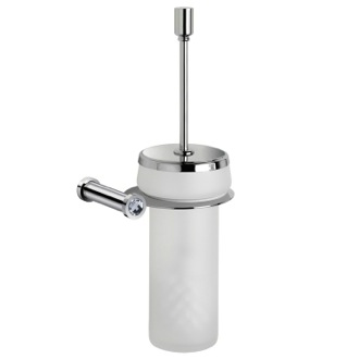Chrome Finished Toilet Brush With White Crystal Windisch 89513MCRB
