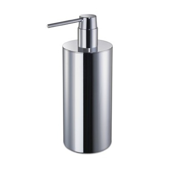Soap Dispenser Round Chrome or Gold Tall Countertop Soap Dispenser Windisch 90108