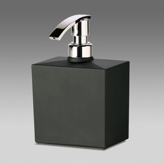 Soap Dispenser Squared Black Frosted Crystal Glass Soap Dispenser 90301N Windisch 90301N