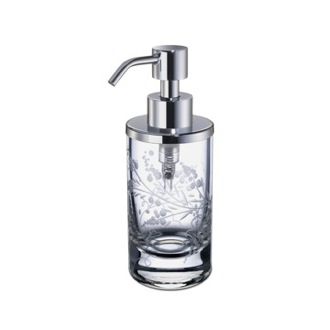 Soap Dispenser Round Decorated Crystal Glass Soap Dispenser Windisch 90459