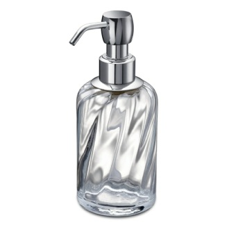 Chrome Brass and Twisted Glass Soap Dispenser Windisch 90801CR
