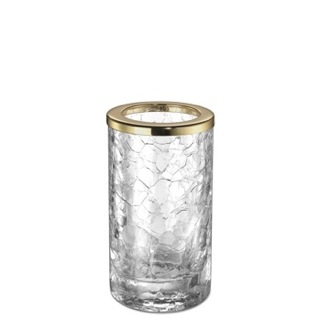 Crackled Crystal Glass Toothbrush Holder Windisch 91061