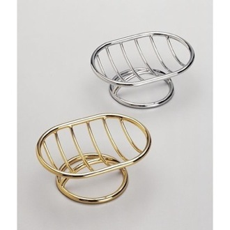 Free Standing Brass Wire Soap Dish With Chrome or Gold Finish Windisch 92102
