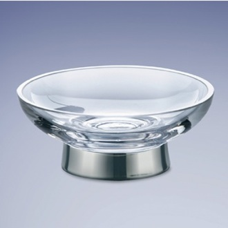 Free Standing Round Glass Soap Dish Windisch 921311