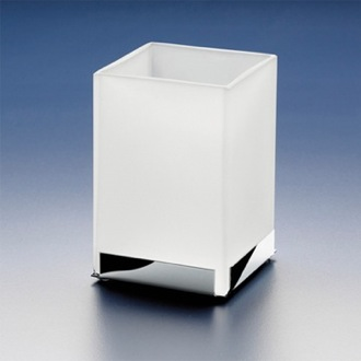 Toothbrush Holder Square Frosted Crystal GlassTumbler 94121M Windisch 94121M