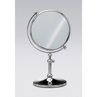 Free Standing Brass Mirror With 3x Magnification Windisch 99111