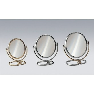 Makeup Mirror Free Standing Brass Mirror With 3x Magnification 99114 Windisch 99114