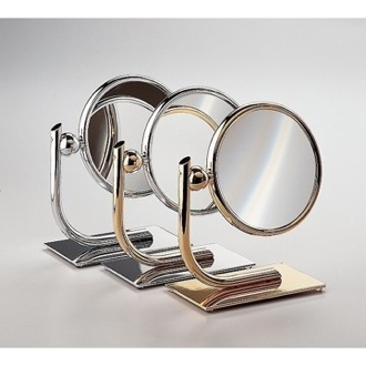 Makeup Mirror Free Standing Brass Mirror With 3x, 5x Magnification 99136 Windisch 99136