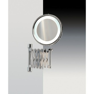 Wall Mounted Brass LED Mirror With 3x, 5x Magnification Windisch 99288