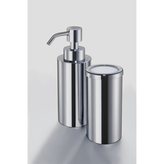 Bathroom Accessory Set Minis Chrome or Gold Round Bathroom Accessory Set MI100 Windisch MI100