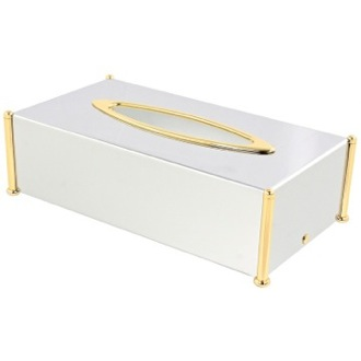 Rectangle Brass Tissue Box Cover Windisch 87106-CRO
