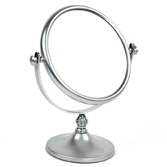 Makeup Mirror Double Face Brass 3x or 5x Magnifying Mirror 99129 Windisch 99129