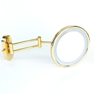 Makeup Mirror Wall Mounted Lighted Brass 3x Magnifying Mirror 99183/D/D Windisch 99183/D/D