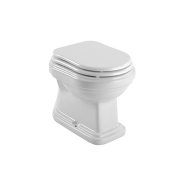 Classic-Style White Ceramic Floor Toilet with Seat and Cover 561111