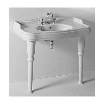 Two Leg Pedestal Sink : Bathroom Sink Classic-Style White Ceramic Bathroom Sink With Legs ...