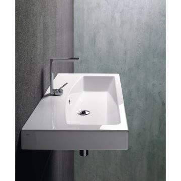 Bathroom Vanities Outlet on Wall Mounted  Vessel  Or Self Rimming Bathroom Sink 758211 Gsi 758211