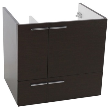 23 Inch Wall Mount Wenge Bathroom Vanity Cabinet