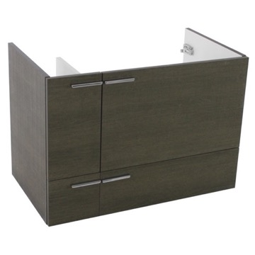 31 Inch Wall Mount Grey Oak Bathroom Vanity Cabinet