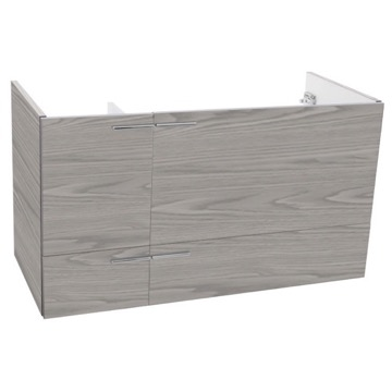 39 Inch Wall Mount Grey Walnut Bathroom Vanity Cabinet